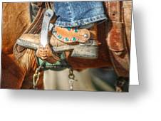 Fancy Horse Tack At A Show Greeting Card