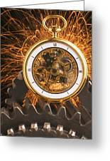 Fancy Pocketwatch On Gears Greeting Card