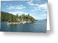 Fannette Island Boat Party Greeting Card