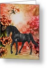 Fantasy Black Horse Greeting Card