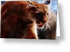 Fantasy Cougar Greeting Card by Paul Ward