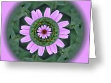 Fantasy Flower Greeting Card by Linda Pope