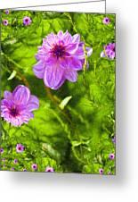 Fantasy Pink Dahlia Greeting Card