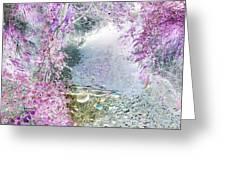 Fantasy Woodland Pond Greeting Card