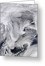 Far Eastern Russia Covered In Snow Greeting Card