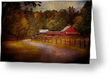 Farm - Barn - Rural Journeys  Greeting Card by Mike Savad