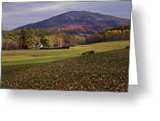 Farm By Ascutney Mountain Vermont Greeting Card