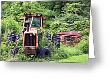 Farm Equipment Greeting Card