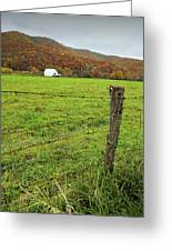 Farm Fence Greeting Card