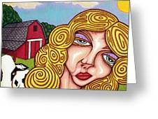 Farm Girl Greeting Card