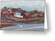 Farm House Cut Off Of Route 5 Greeting Card by Betty Pieper
