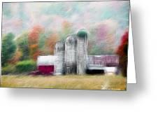 Farm In Fractals Greeting Card