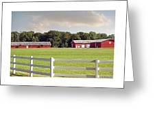 Farm Pasture Greeting Card