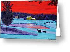 Farm Pond Greeting Card