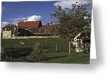 Farm Scene With Barn  Greeting Card