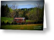 Farm With A View Greeting Card by Crystal Joy Photography