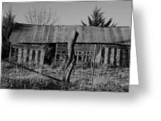 Farmers Building Greeting Card