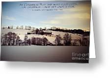 Farmer's Christmas Greeting Card