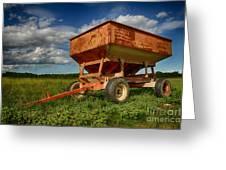Farmer's Grain Wagon Greeting Card