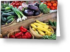 Farmers Market Summer Bounty Greeting Card