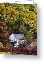 Farmhouse In Fall Greeting Card