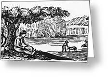Farming: Almanac Cut Greeting Card