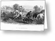 Farming, C1870 Greeting Card