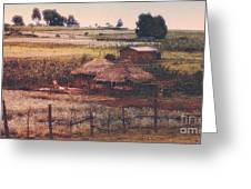 Farming In The Rift Valley Greeting Card