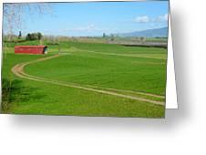 Farming Scene Greeting Card