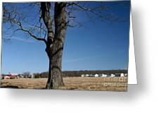 Farmland Versus Development Greeting Card by Karen Lee Ensley