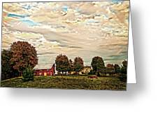 Farms From The Fifties Greeting Card