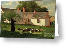 Farmyard Scene Greeting Card