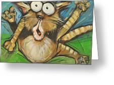Farting Feline Greeting Card