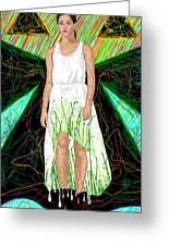 Fashion Abstraction De Jeff Hanson Greeting Card