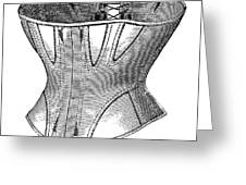 Fashion: Corset, 1869 Greeting Card