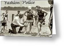 Fashion Police 1922 Greeting Card