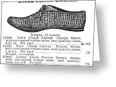 Fashion: Sneakers, 1895 Greeting Card by Granger