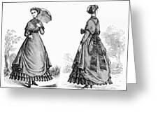 Fashion: Women, 1868 Greeting Card