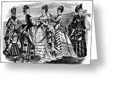 Fashion: Womens, 1874 Greeting Card
