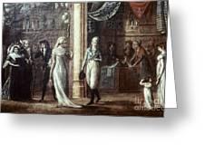 Fashionable Parisians, 1799 Greeting Card