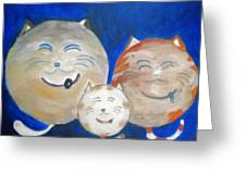 Fat Cat Family Greeting Card