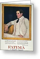 Fatima Cigarette Ad, 1917 Greeting Card