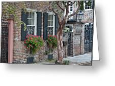 Favorite Tradd Street Window Boxes Greeting Card by Lori Kesten