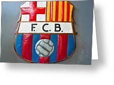 Fc Barcelona Symbol Greeting Card