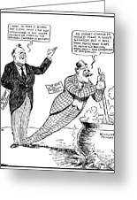F.d. Roosevelt Cartoon Greeting Card