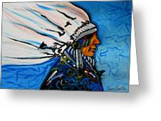 Feather Head Greeting Card