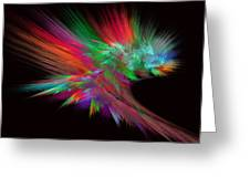 Feathery Bouquet On Black - Abstract Art Greeting Card