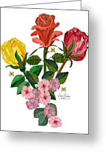 February 2012 Roses And Blooms Greeting Card