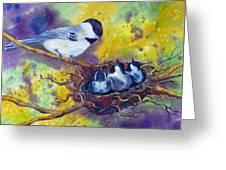 Feeding Chorus Greeting Card