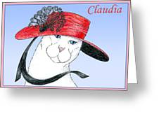 Feline Finery - Claudia Greeting Card